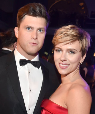 Scarlett Johansson and Boyfriend Colin Jost Shared a Sneaky Moment of PDA on SNL