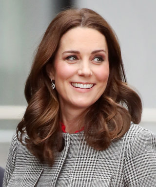 Pregnant Kate Middleton Wraps Her Baby Bump in Chic Houndstooth Coat