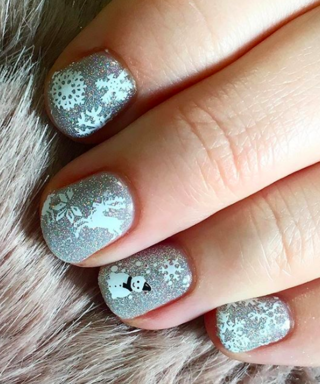 How To Wear Glittery Nails, By Celeb Manicurist Glenis Baptiste