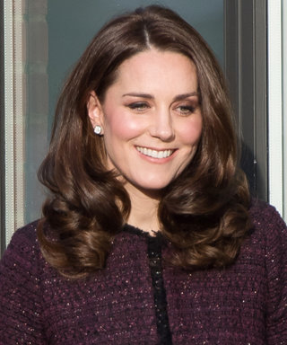 Pregnant Kate Middleton Played Santa Claus to a Group of Babies in the Chicest Purple Coat