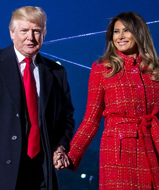 Melania Trump Sparkles in an Embellished Dress for White House Christmas Card