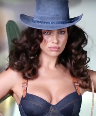 Irina Shayk Lassoes Cacti in a Corset for Day 20 of Love's Advent Calendar