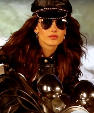 Alessandra Ambrosio Rides a Motorcycle in Sexy Lingerie for Love's Advent Calendar