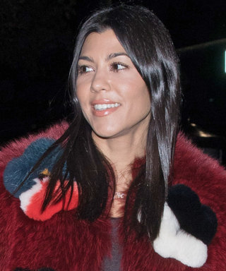 Kourtney Kardashian Shows Us the 2018 Way to Wear a Fur Coat
