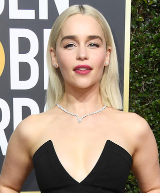 Emilia Clarke's Khaleesi-Blonde Hair Lit Up the Golden Globes Red Carpet