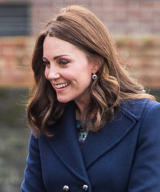 Pregnant Kate Middleton Bundles Up Her Baby Bump in Chic Navy Peacoat
