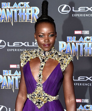 Lupita Nyong'o Looks Like Royalty in Her Plunging Black Panther Premiere Gown
