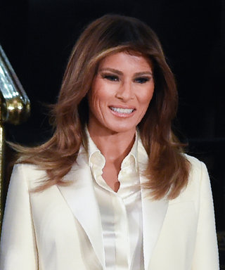 Melania Trump Wore a White Dior Pantsuit to the SOTU, and We Have Some Questions