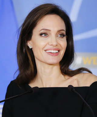 Angelina Jolie Looks Business Chic in Head-to-Toe Black for Visit to NATO Headquarters