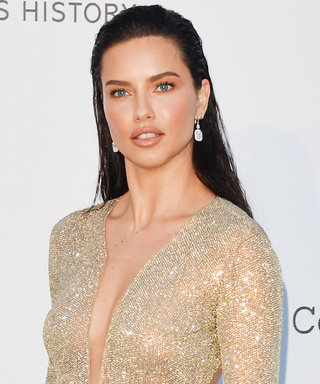 Adriana Lima Wore a Naked Dress That Looks Like Body Highlighter