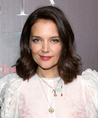 Katie Holmes Shows Us a Classy Way to Wear the See-Through Blouse Trend