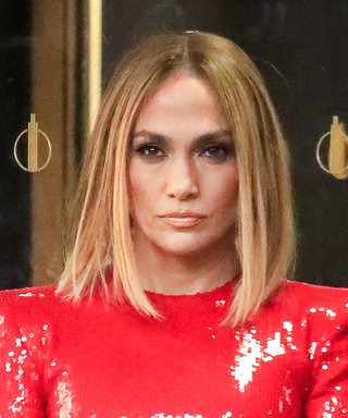 Jennifer Lopez Just Wore a Fire Red Dress That's Unreal