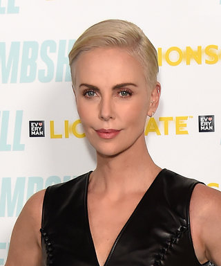 Charlize Theron Just Wore the Sexiest Leather Black Dress on the Red Carpet