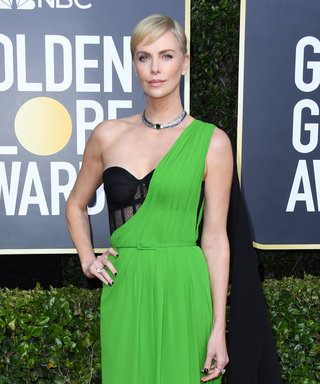 The Best Part of Charlize Theron's Golden Globes Dress Is Something You Couldn't See on the Red Carpet