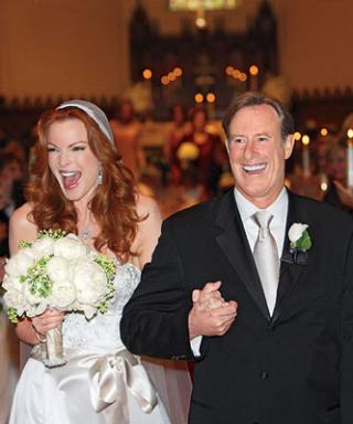 Celebrity Wedding: Marcia Cross & Tom Mahoney