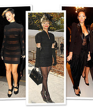 Rihanna Takes On the City of Light in Not-So-Basic Black!