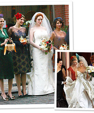 Christina Hendricks's SATC-Inspired Nuptials