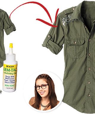 DIY: Add Hardware to Your Military Top