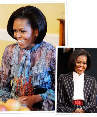 Michelle Obama Wears Alexander McQueen