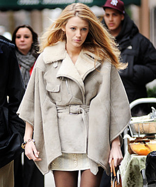 Blake Lively Rocks a Luxe Ralph Lauren Shearling on Gossip Girl