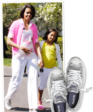 Michelle Obama's Sparkly Easter Sneakers