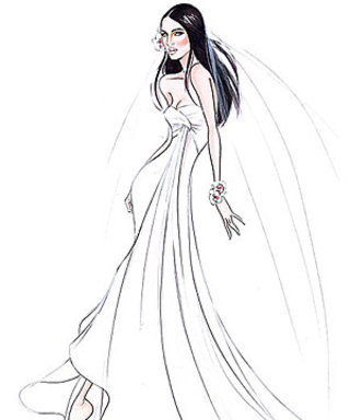 The Scoop on Megan Fox's Armani Prive Wedding Gown