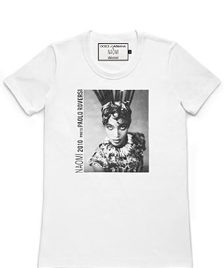 Naomi Campbell Tees Up With Dolce & Gabbana for Charity