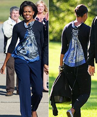 Michelle Obama's Sweater Does Double Duty!