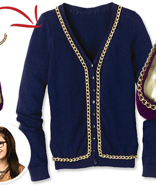 DIY: Add Chain Details to a Cardigan and Flats!