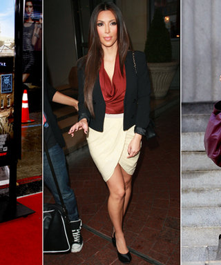 Trend to Try: Tan Skirts With Jewel-Tone Tops