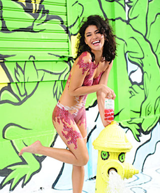 See Jessica Szohr's Paint-Only Swimsuit for SoBe