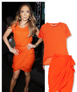 Found It! Jennifer Lopez's Tangerine Outfit