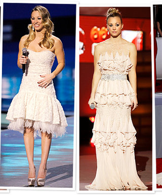 People's Choice Awards: Host Kaley Cuoco's Winter Whites