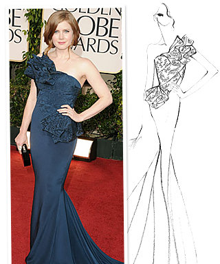 Amy Adams' Marchesa Dress: The Exclusive Sketch!