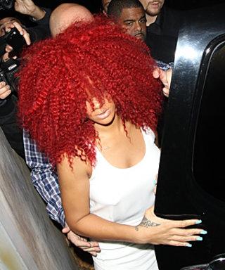 Rihanna's New Hair: Poufy, Red and Big!