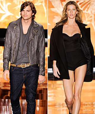 Ashton Kutcher and Gisele Bündchen Hit the Runway