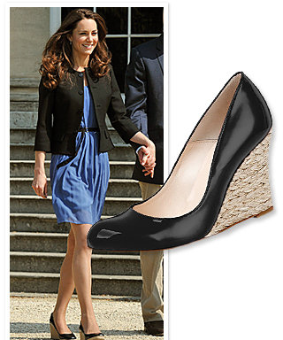 Kate Middleton's Black Wedges: Where to Find Them!