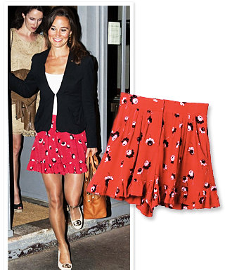 Found It! Pippa Middleton's Red Shorts