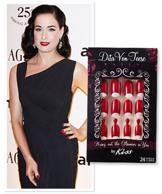 First Look: Dita Von Teese's Glue-On Nails for Kiss!