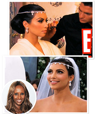 Kim Kardashian's Wedding Hairstyle Surprised Iman