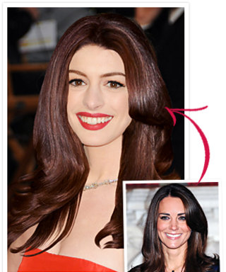 Anne Hathaway's Kate Middleton Hair Makeover