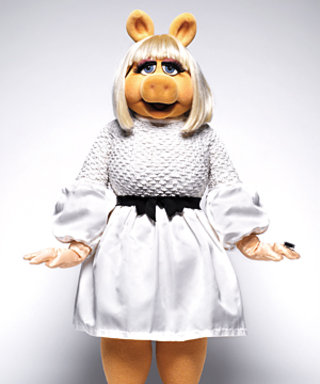 Miss Piggy Models for InStyle