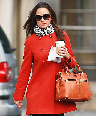 Pippa Middleton Welcomes Fall in Red Zara Coat