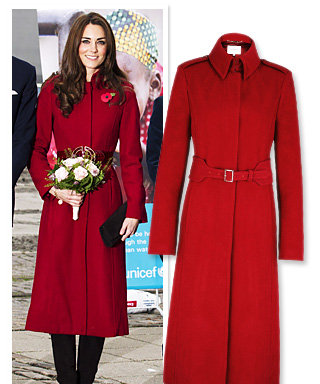 Found It! Kate Middleton's Red Coat