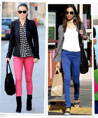 How to Wear Colored Jeans Like a Celebrity