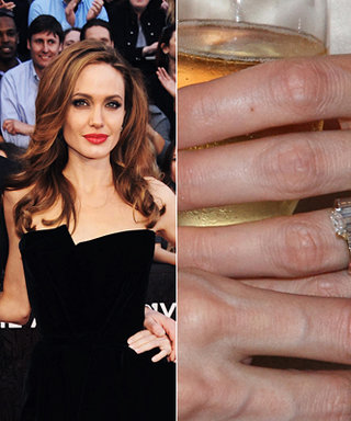 Angelina Jolie's Engagement Ring: A Big Photo for a Big Rock