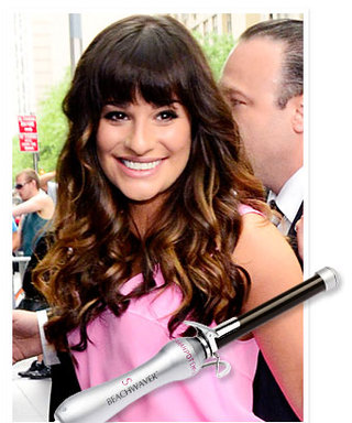 Lea Michele's Bangs and Beachy Waves Combo: Get the Look