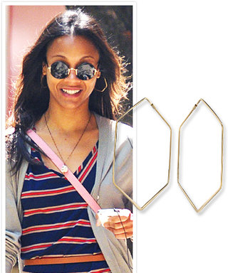 Found It! Zoe Saldana's Sexy Hoops