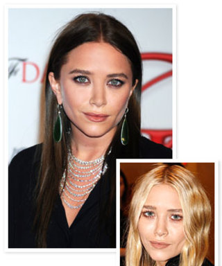 New Hair Color Alert: Mary-Kate Olsen's Dark Brown Hue