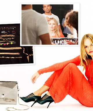 Kate Bosworth Designs Bags! On Set for Her Gilt Photo Shoot